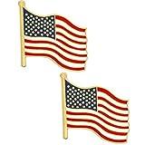 PinMart American Flag Patriotic Enamel Lapel Pin