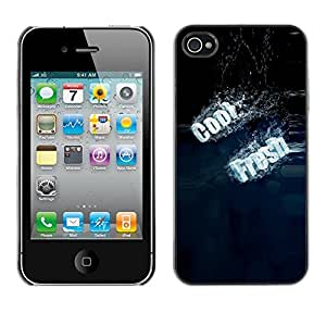 YiPhone /// Prima de resorte delgada de la cubierta del caso de Shell Armor - Cool Fresh Typography - Apple iPhone 4 / 4S