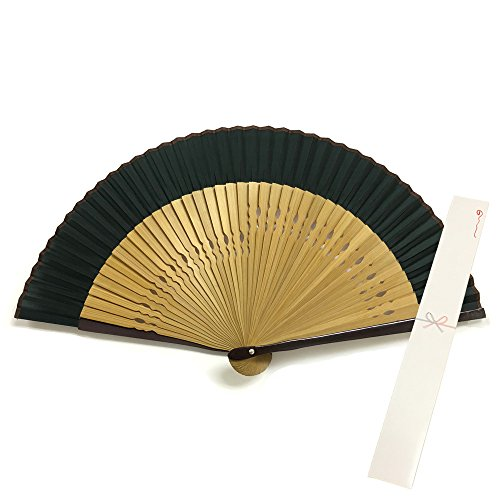Japanese Silk folding fan /green / by sensu-ya (Image #3)