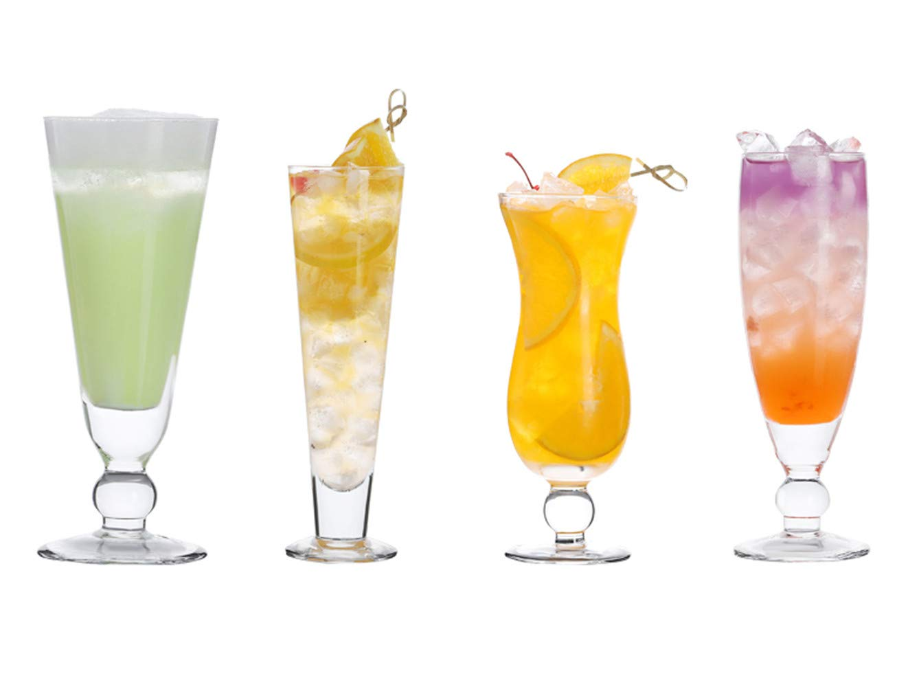 Glass Drink Cup Tea Cup Portable Lead-free Transparent Dessert Juice Milk Creative Household High Juice Cup Large Thick Cold Drink Milkshake Cup