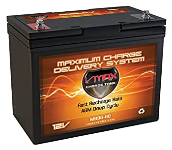 VMAXMB96 AGM Group 22 Deep Cycle Battery Replacement for C&D Dynasty DCS-50U 12V 60Ah Wheelchair Battery