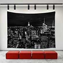 "Black and White New York City Wall Tapestry 60""x 51"",Wall Hanging Tapestries, Bedspread Bedding Bed Cover, Ethnic Home"