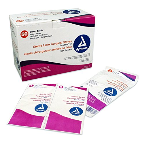 Dynarex 2380 Surgeon's Latex Ster Glove Powder-Free (Size 8.0), 4/50pr/cs by Dynarex (Image #1)
