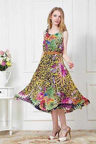 szivyshi - Vestido - para mujer amarillo