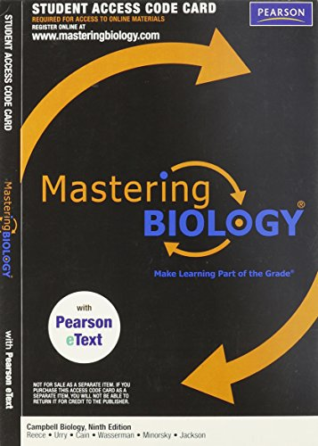 Mastering Biology with Pearson eText -- ValuePack Access Card -- for Campbell Biology (ME Component) (9th Edition)