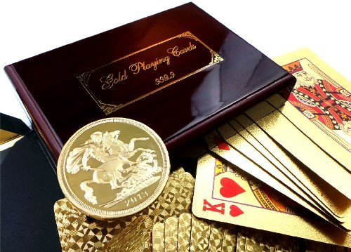 The British Gold Company Real 24K Gold Playing Cards Set In