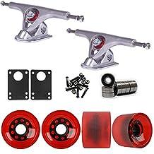 Paris 180 Raw Longboard Trucks Wheels Package 70mm Sliding Wheels Red