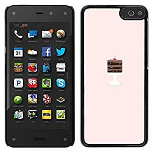 Amazon Fire Phone Único Patrón Plástico Duro Fundas Cover Cubre Hard Case Cover - Chocolate Cake Pink Chef Pastry Tart