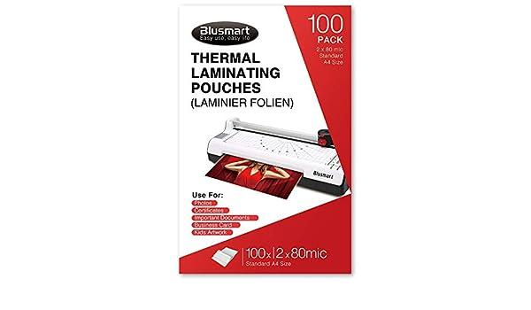 Blusmart Premium - Bolsas térmicas para plastificar (22,8 x ...