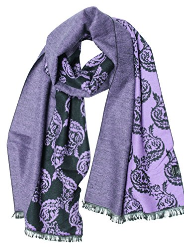 Nilin Women's Jacquard Viscose Scarf (Purple/1603) (Purple Viscose)