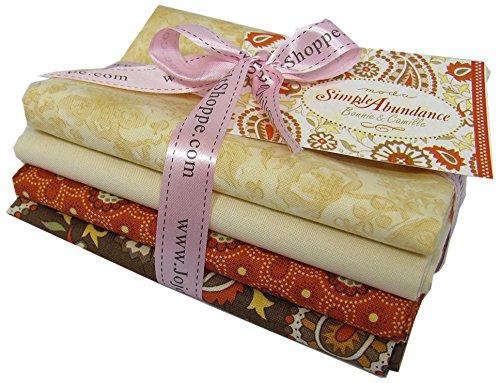 Fabric 4 Fat Quarters (Jojo's Quilt Shoppe Simple Abundance by Bonnie & Camille for Moda Fabrics, Fat Quarter Bundle, Set of 4)