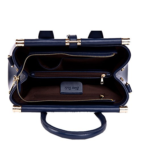 Crocodile Handbag Missmay Purse Vintage Print Cowskin Black Shoulder Leather Women's wfwqxIZ1