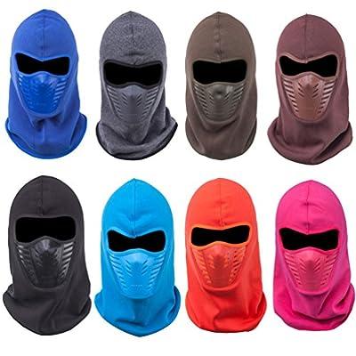 HZTG Winter Fleece Warm Full Face Cover Tasker Balaclava Windproof Ski Mask Hat