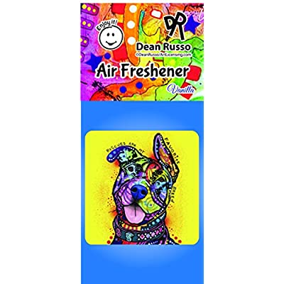 Enjoy It Dean Russo Pit Bull (Rescues are My Favorite Breed) Air Freshener, Vanilla Scent: Toys & Games