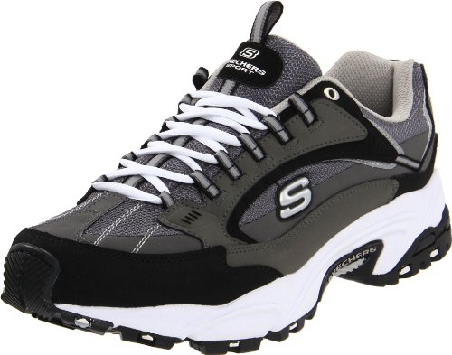 Skechers Sport Men's Stamina Nuovo Cutback Lace-Up Sneaker,Charcoal/Black,10.5 M US by Skechers (Image #3)