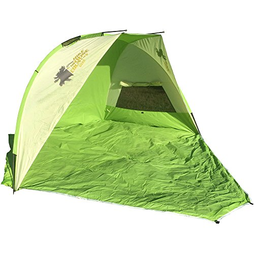 High Peak Outdoors Moose Country Gear Maui Beach Tent, 122'' x 70'' x 37'', Green by High Peak Outdoors