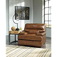 Palner Contemporary Topaz Color 100% Leather Chair