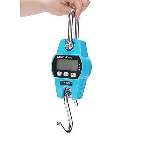 ZNND Escala Electrónica, Portátil Mini Colgando Peso Oveja De Cerdo Ganado Gancho 50kg-250kg
