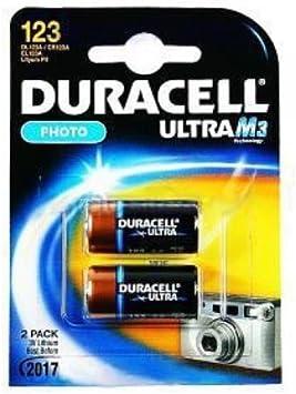 Duracell Ultra M3 Lithium Pack of 2 Litio 3V batería no-Recargable: Amazon.es: Electrónica