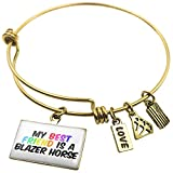 Expandable Wire Bangle BraceletMy best Friend a Blazer Horse, Neonblond