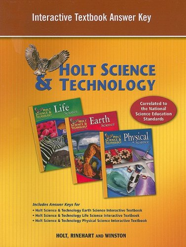 Holt Science & Technology: Interactive Textbook Answer Key