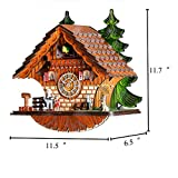 Kintrot Cuckoo Clock Traditional Chalet Black