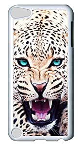Brian114 Case, iPod Touch 5 Case, iPod Touch 5th Case Cover, Animal Sblue Eyes Retro Protective Hard PC Back Case for iPod Touch 5 ( white )