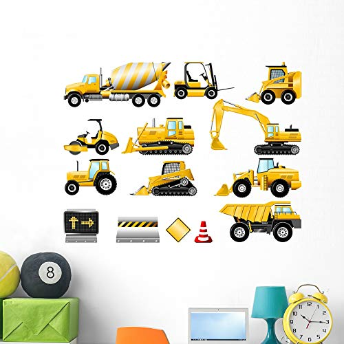 Wallmonkeys Construction Icon Set Wall Mural Peel and Stick Vinyl Graphic (48 in W x 41 in H) WM525203
