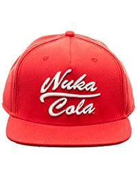 Fallout 4 Nuka Cola Embossed Logo Red Flat Brim Baseball Cap Hat New With Tags