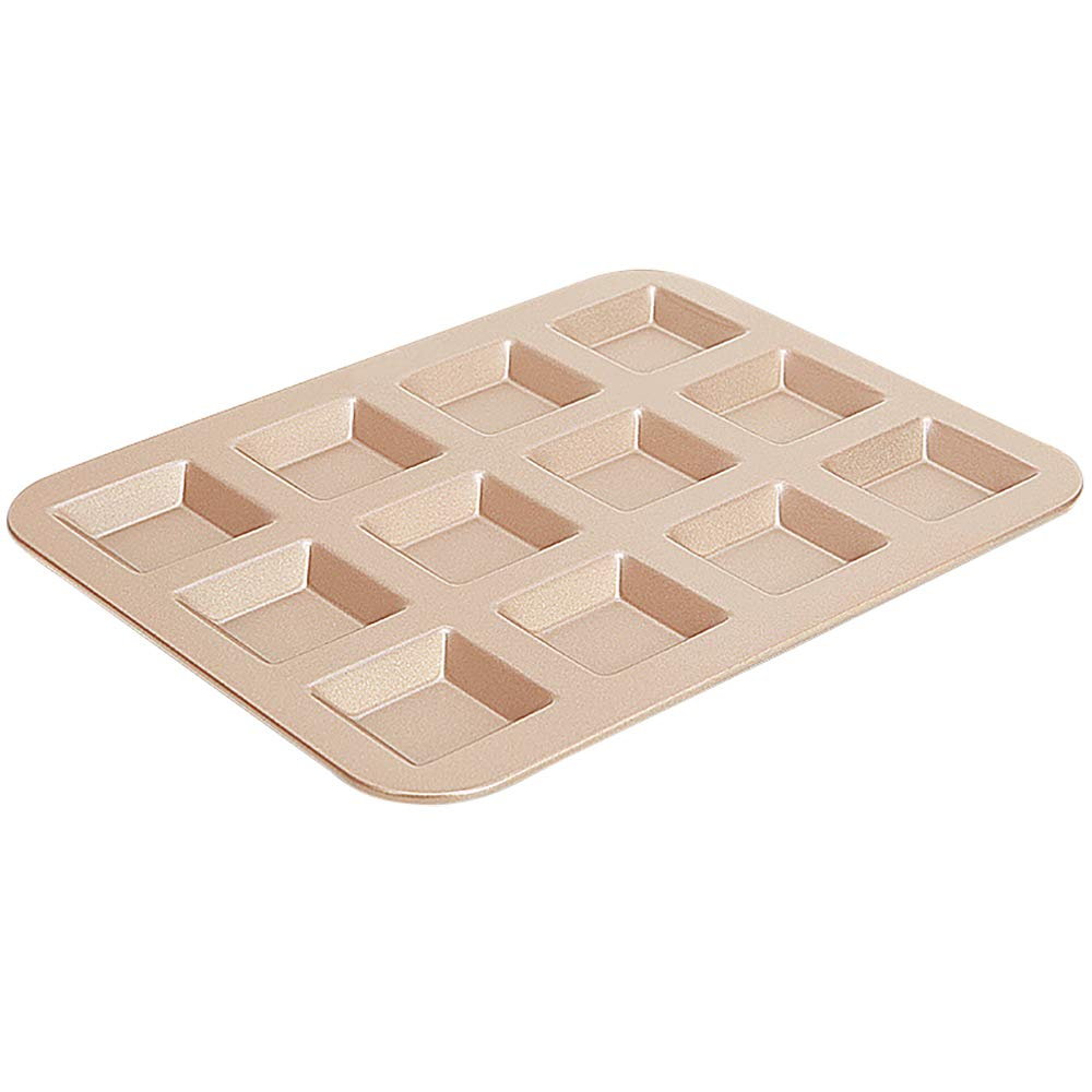 MyLifeUNIT Nonstick Mini Loaf Pan, 12-Cavity Financier Mold for Baking Cakes Biscuits