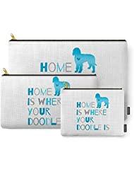 Society6 Home Is Where Your Doodle Is, Art For The Labradoodle Or Goldendoodle Dog Lover Carry-All Pouch