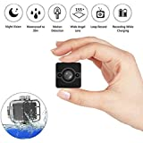 Waterproof Mini Camera 1080P HD Sport Action Night Vision Camcorder Portable DV Surveillance Cam Video Recorder Motion Detection Loop Recording for Bicycle Motorcycle Ski Diving Snorkeling