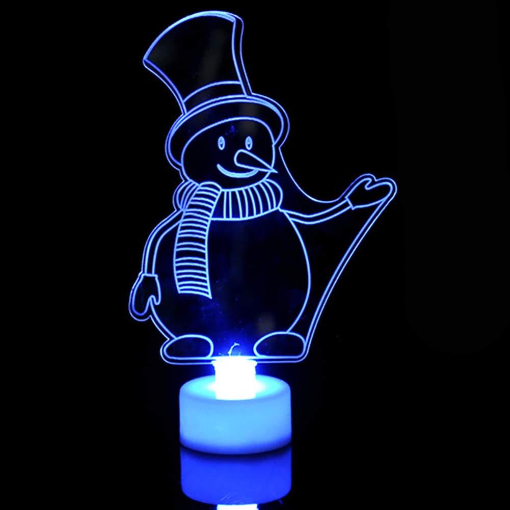 Quietcloud Christmas LED Night Light,Santa Claus Tree Snowman Party Decor Lamp Xmas Gift Snowman