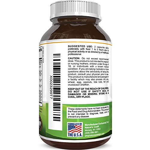 1000 mg Horny Goat Weed Supplement for Drive and Stamina - Pure Epimedium with Tongkat Ali Maca Root Ginseng Saw Palmetto - Boosts Performance for Men and Women 90 Capsules by Natures Craft by Natures Craft (Image #3)