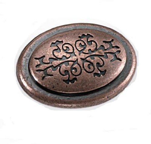 (Laurey 53107 1 3/8-Inch Oval Cimarron Knob, Antique Copper )