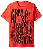 A X Armani Exchange Men's Graffiti Logo Crew Neck Tee