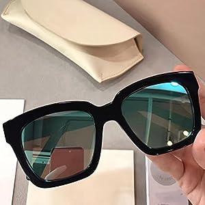 New Gentle man Women Monster Sunglasses V brand Dreamer Hoff 01(11m) for gental Monster sunglasses-black frame blue lenses