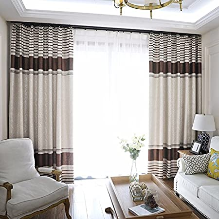Amazon De Peiwenin Schlafzimmer Vorhange Modern Fertig Wohnzimmer Vorhange Kuche Fenster Vorhange