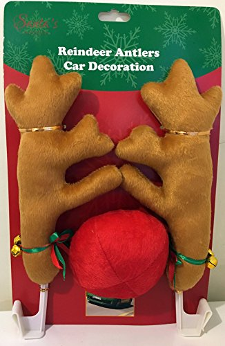 Reindeer Antlers Car Decoration by Santa's