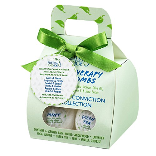 Bath Bombs Stocking Stuffer 6 Pieces Gift Bath Fizzies Set for Her/Him Calm Conviction. Birthday Holiday Stocking Stuffer Gifts Idea for, wife, in Relaxing and Calming Aromatherapy Bubble & Spa Bath