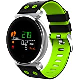 Waterproof Fitness Tracker - Hathcack Ai03 Super Long Standby Activity Monitor and Sleeping Management Heart Rate Monitor Pedometer SMS Calls Reminder Bluetooth Smart Wristband for IOS/Android - green