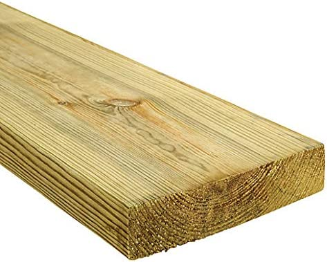 C24 Sawn Treated Timber Joist 45x195mm 2.4M Pack of 5 8x2 Inch