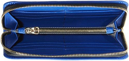 Stella Maris pochette / porte-monnaie / pochette de soirée / sac porté avant-bras pour femmes en cuir bleu avec diamant  - STMB612-03