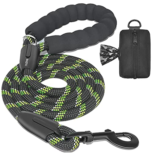 correa para pasear perro Medium/Large 1.8 mts negra-verde