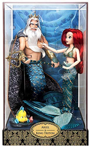 Limited Fairy Edition - Ariel and Triton Doll Set - Disney Designer Fairytale Collection - Limited Edition