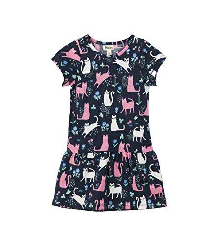 Hatley Big Girls' Tee Dress, Kitty Catnip, 8 Years - Kid Catnip