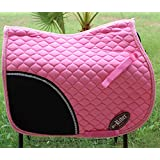 Horse Quilted ENGLISH SADDLE PAD Tack Trail Riding Pink 72F04