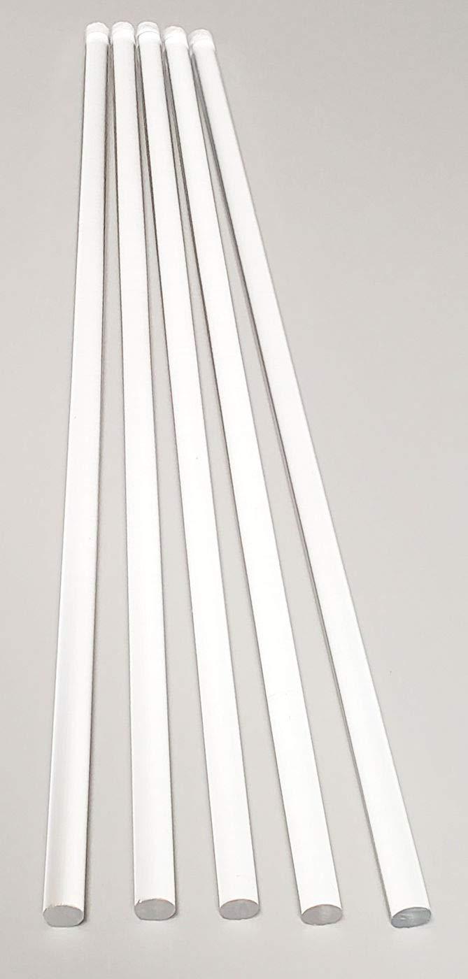 5 Pcs 5/16'' Diameter x 36'' Long Clear Acrylic PLEXIGLASS Lucite Plastic Rod - .3125'' Dia - 8mm