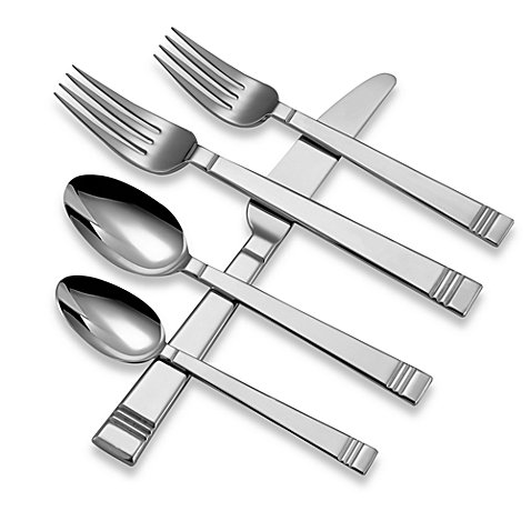 Lenox 18/10 Stainless Tin Can Alley 22 Piece Flatware / Silv