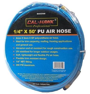 "1/4"" x 50' 8 mm x 5 mm 1/4"" NPT Blue PU Polyurethane Air Hose for Roofing Carpentry"